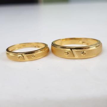 22KT Yellow Gold Frolic Couple Ring For Unisex