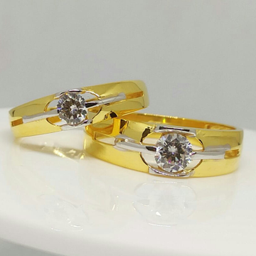 Buy quality 916 exclusive gold couple ring by