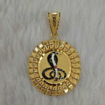 Gold goga maharaj pendant