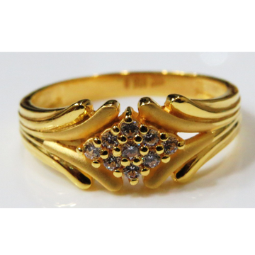 22kt gold casting cz stylish ring for men gr-16