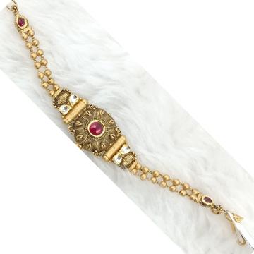 916 GOLD ANTIQUE PREMIUM GOLD BRACELET by Ranka Jewellers