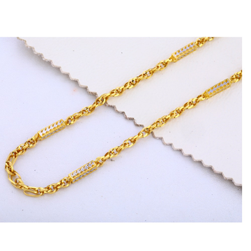 22KT Gold Plain Gorgeous Men's Choco Chain MCH311