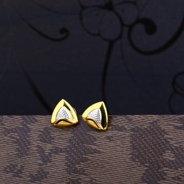 Ladies 22K Gold Fancy Castng Plain Earring -LPE52