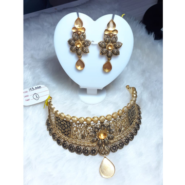916 Gold Jadtar Khokha Necklace Set KG-N06