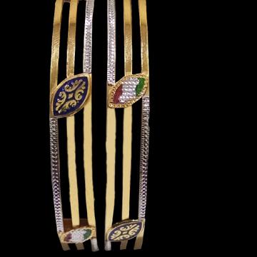 22kt Gold Meenakari Bangle SG-44 by
