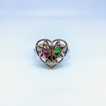 FANCY ROSE GOLD STERLING SILVER RING by