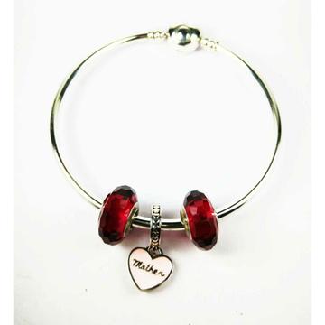 Fancy 925 Silver Ladies Kada Bracelet For Mothers