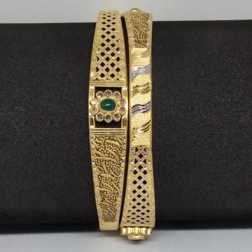 22kt gold fensy copper kadli by V.N. Jewellers
