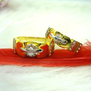 916 GOLD CZ DIAMOND COUPLE RING