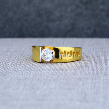 22ct exclusive solitaire mens gold desginer ring-msr08