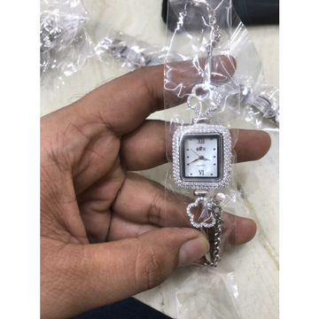 92.5 Sterling Silver Square Dezine Micro Dail Pis Watch Ms-3873