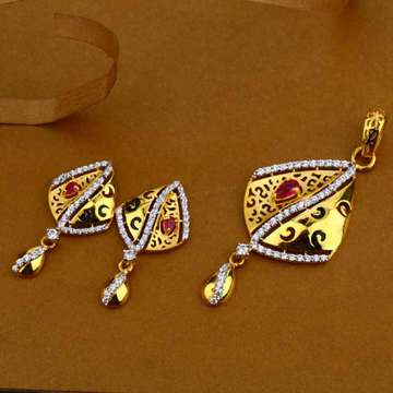 22Kt Gold Stylish Ladies  Pendant Set FSP45