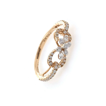 Infinity Knot Diamond Ring in 18k Rose Gold - 2.330 grams - 0.40 carats - 0LR70