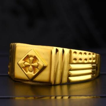 22 carat gold hallmark classical gents rings RH-GR625