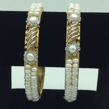 Pearls CZ Fancy Bangles JBG0307