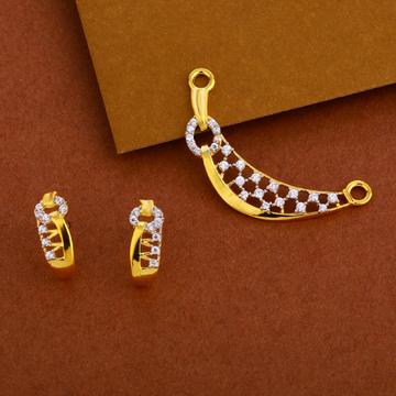 22kt Gold cz Gorgeous Mangalsutra Pendant Set MP238