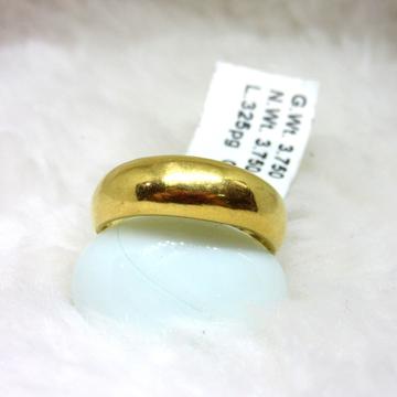 Gold Plain Holo Band Ring