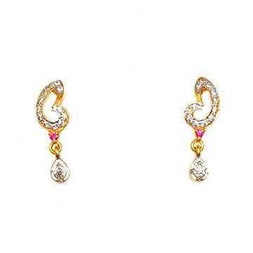 22K Gold CZ Diamond Earrings MGA - BTG0181