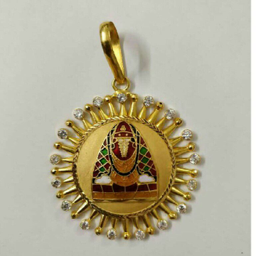 22K/916 Gold Fancy Designer Pendant