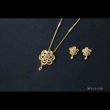 22 K Gold Fancy Pendant Set. NJ-P01152