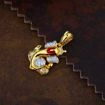 916 gold ganpati pendants RH_pendants63