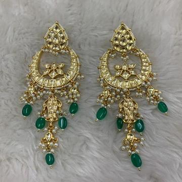 Green Stone Latkan Heavy Earring by