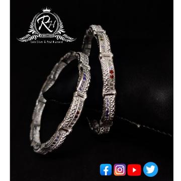 silver traditional ladies bangles RH-LB781