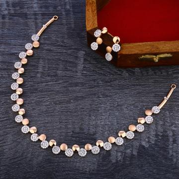 18KT Rose Gold Hallmark Ladies Necklace Set RN143