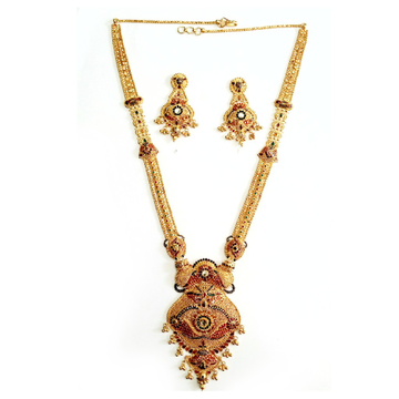 916 Gold Kalkati Necklace Set MGA - GN032