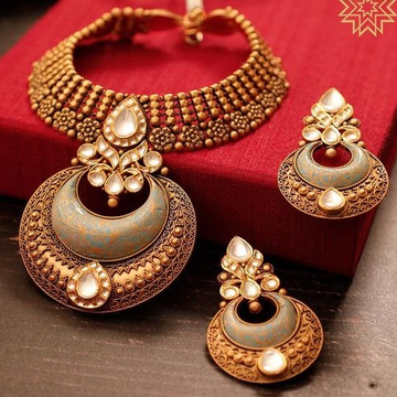 haar Kundan Chokar Set 916 Bridal Set Rajputi Gold new gold Jewelry  by