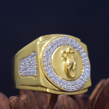916 Gold CZ Gents Ring MK-R17 by