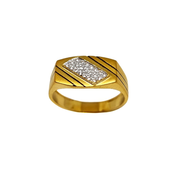 22K Gold Modern Oxidised Gents Ring MGA - GRG0226