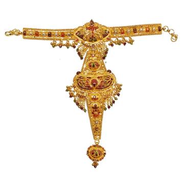 22k Gold Meenakari Designer Pocha Bracelet MGA - GP022