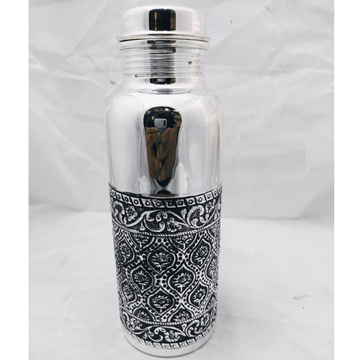 92.5 pure silver bottle in fine antique carvings p... by Puran Ornaments