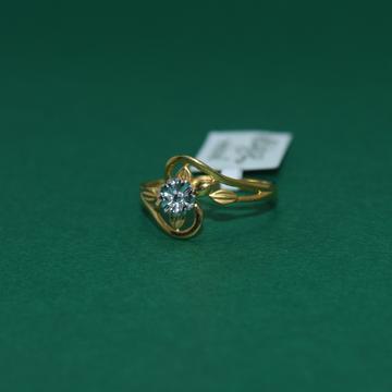 22KT Hallmarked Flower Designed Ladies Ring by Simandhar Jewellers