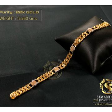 22kt hallmark gold attractive design bracelet by Simandhar Jewellers