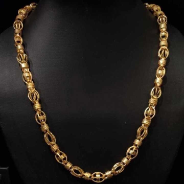 22 k gold hollow chain. nj-c0287