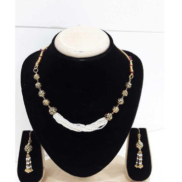 916 Antique Gold Para Moti Line Set