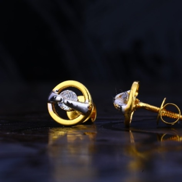 22 carat gold fancy ladies earrings RH-LE731