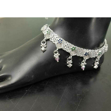 92.5 Sterling Silver Micro Casting Rajkoti Payal(A... by