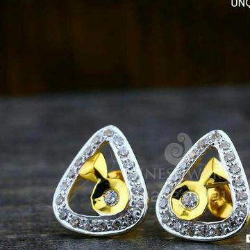 18kt Unique Designer Cz Gold Ladies Tops ATG -0224