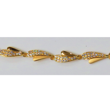 22kt Gold Cz Casting Ladies Bracelet