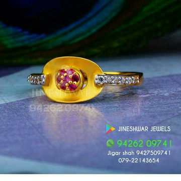 Gold Cz Color Stone Ladies Ring LRG -0226