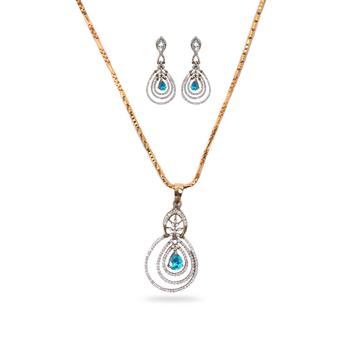 Exclusive Diamond Pendant Set by
