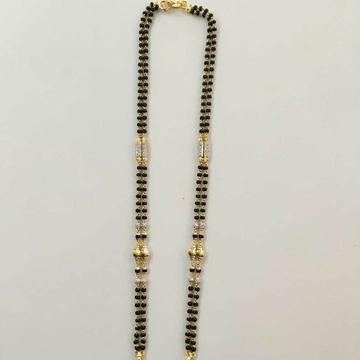 22k gold fancy double line mangalsutra DVJ-019 by Deepvimal Jewellers