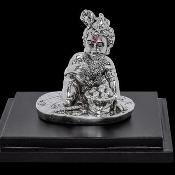 92.5 Sterling Silver Ladoo Bal Gopal Thakur Ji Krishna Kanha  Murti