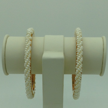 White Seed Pearls 3 Layers Bangles JBG0089