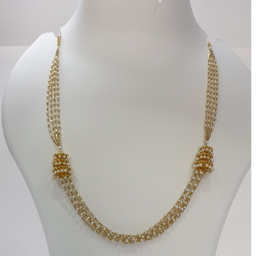 18k gold designer moti chain by