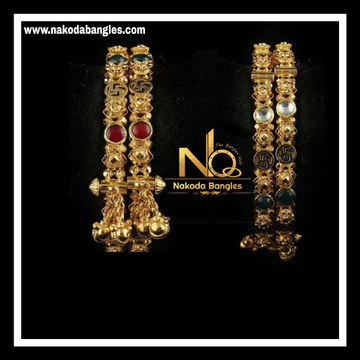 916 Gold Antique Bangles NB - 739