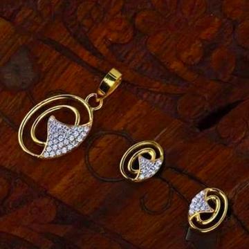 916 gold chain pendantset RH_pset64